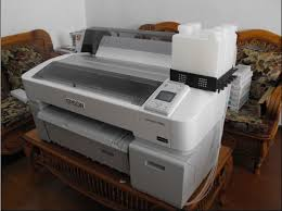 Máy in Epson SureColor T5280 in khổ A0, gắn mực in chuyển nhiệt